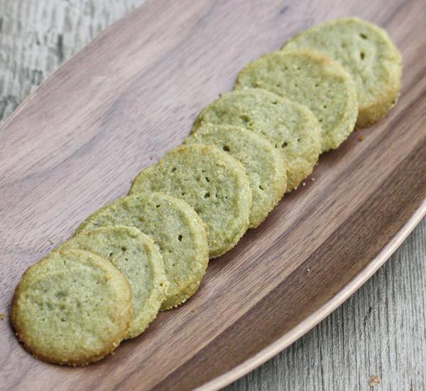 Green Kinako Icebox Cookies