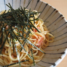 Photo mentaiko spaghetti