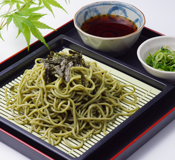 Cold Green Tea Soba Noodles