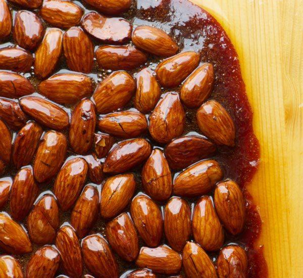 Amandes caramélisées aromatisées au soja
