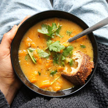 Miso pumpkin soup cropped