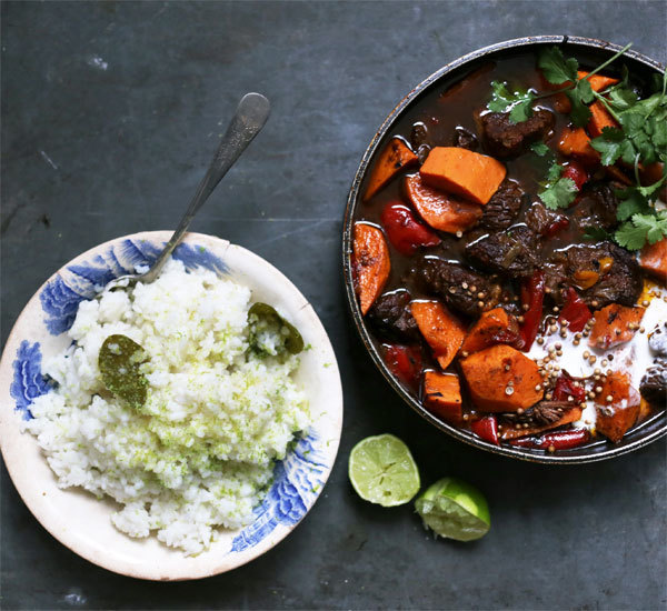 Beef Pot With Steamed Lime Rice