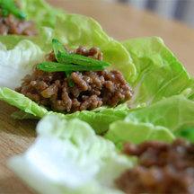 Beef lettuce wrap