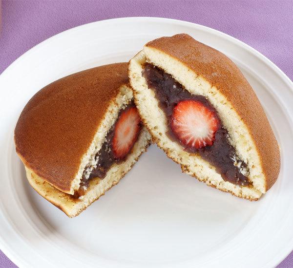 Strawberry and Red Bean Paste Dorayaki