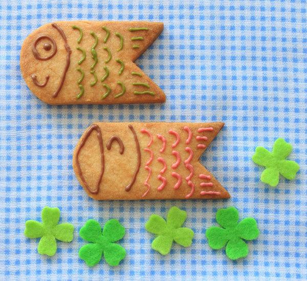 Koinobori/fiskformade kakor till Internationella barndagen