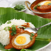 Scotch egg curry