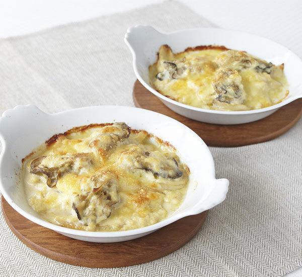 Ostriche gratinate con salsa al tofu