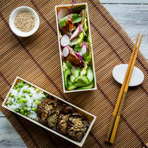 Steak teriyaki bento