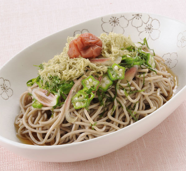 Cold Tororo Shaved Kelp Soba Noodle Soup