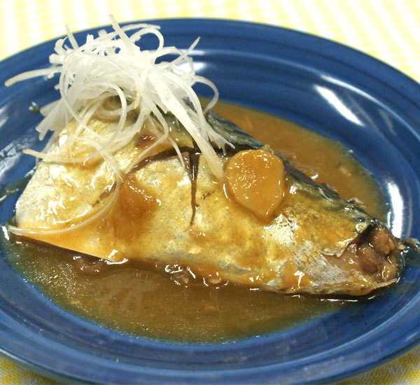 Mackerel Simmered in Miso Sauce