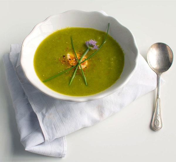 Summer Cucumber Soup With Crème Fraîche