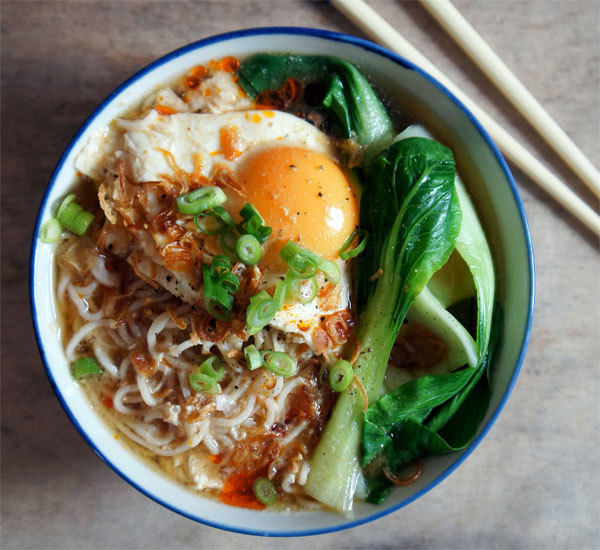 Miso Ramen Soup With Pakchoi And Poached Egg Recipe Japan Centre