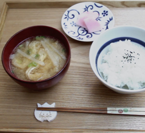 Daikon Radish and Abura-Age Fried Tofu Miso Soup
