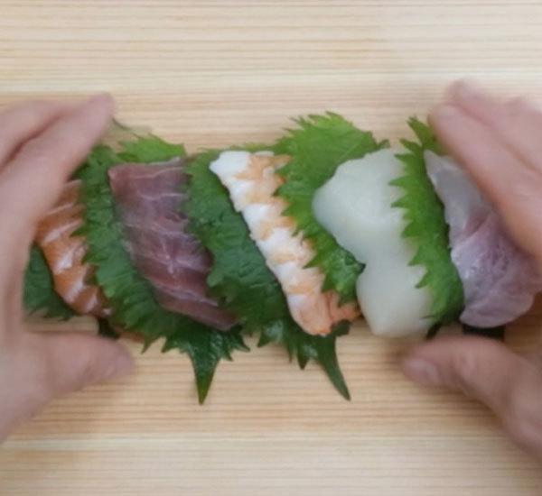 Rainbow Maki Sushi Roll