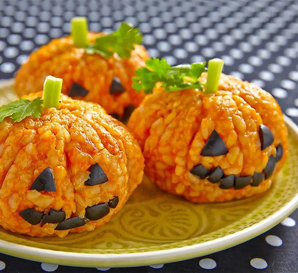 Pumpkin rice balls
