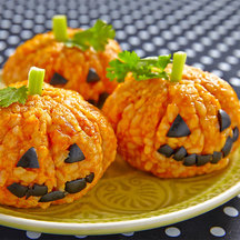 Pumpkin rice balls