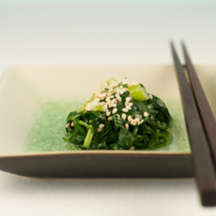 Photo goma ae sesame spinach salad