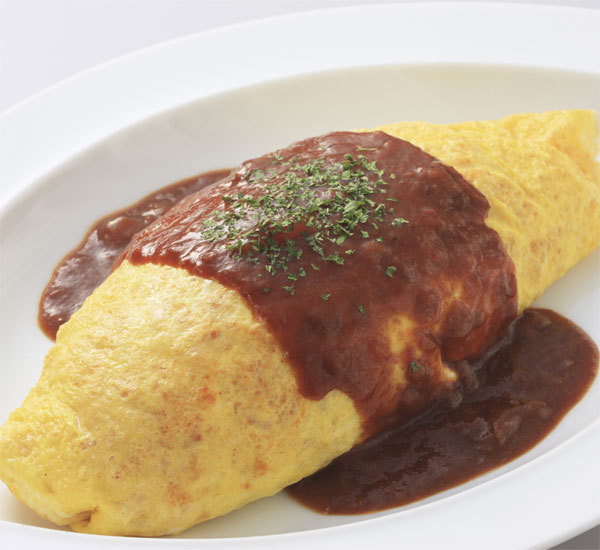 Omurice with Beef and Demi-glace Sauce