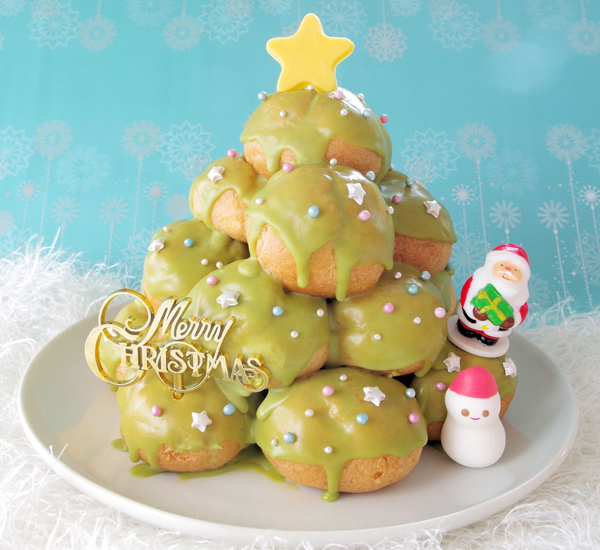 Water And Sugar For Christmas Tree: Matcha Glazed Croquembouche Recipe