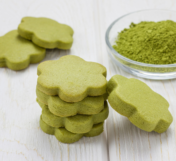 Matcha Shortbread Biscuits