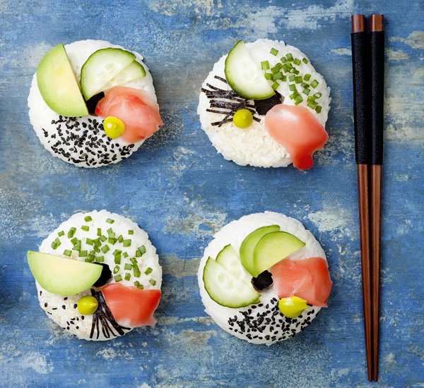 Vegetarian Sushi Doughnuts