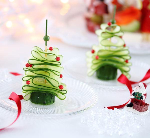 Christmas Tree Asazuke Cucumber Pickles