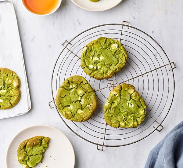 Matcha Green Tea and Belgian White Chocolate Cookies