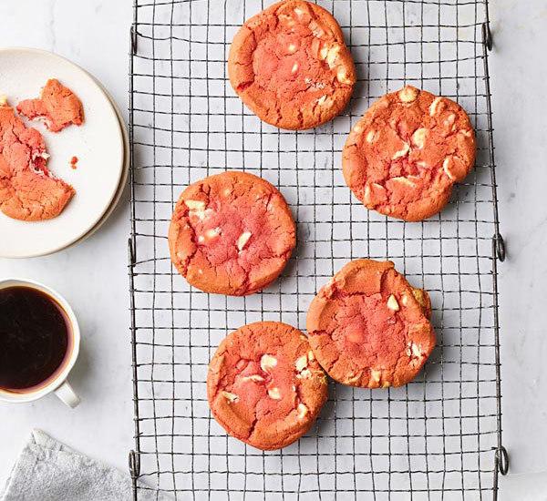Sakura Cherry Blossom and Belgian White Chocolate Cookies