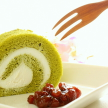 Photo matcha role cake