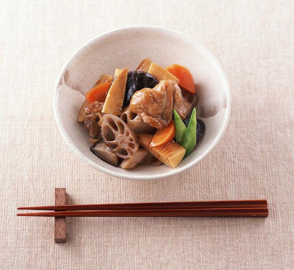 Simmered Chicken And Vegetables (Chikuzen Ni)