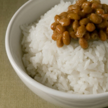 Photo natto fermented soy bean