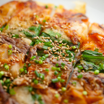 Photo chijimi spicy pancakes