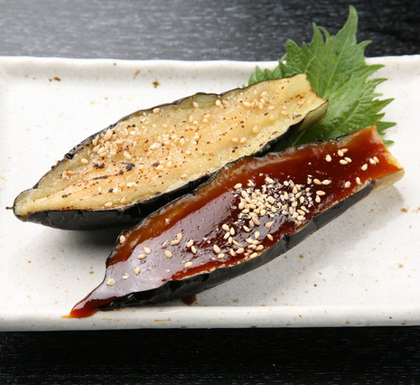Aubergine med miso (nasu dengaku)