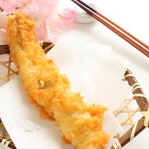 Photo tempura with cherry blossom