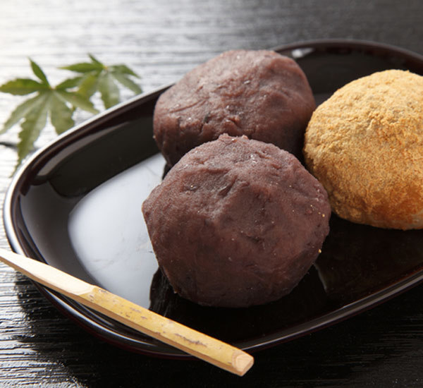 Ohagi Mochi And Red Bean Sweets
