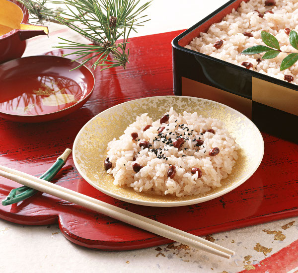 Riz aux haricots azuki (sekihan)
