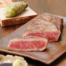 893 wasabi soy sauce steak