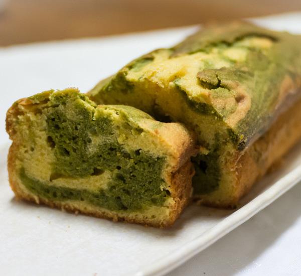 Torta marmorizzata al Matcha